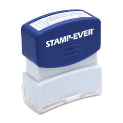 "U.S. Stamp & Sign Stamp, Pre-Inked, ""E-Mailed"", 9/16""x1-11/16"" Imp, Blue"