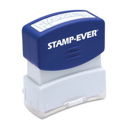 "U.S. Stamp & Sign Stamp, Pre-Inked, ""Faxed"", 9/16""x1-11/16"" Imp, Blue"