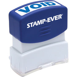 "U.S. Stamp & Sign Stamp, Pre-Inked, ""Void"", 9/16""x1-11/16"" Imp, Blue"