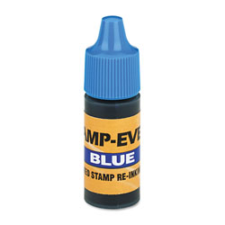 U.S. Stamp & Sign Refill Ink for Stamps & Pads, 20ML Squeeze Bottle, Blue