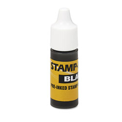 U.S. Stamp & Sign Refill Ink for Stamps & Pads, 20ML Squeeze Bottle, Black