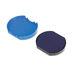 U.S. Stamp & Sign Trodat T46140 Dater Replacement Pad, 1-5/8d, Blue
