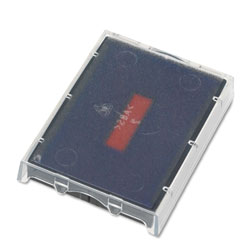 U.S. Stamp & Sign T5470 Dater Replacement Ink Pad, 1-5/8w x 2-1/2d, Red/Blue