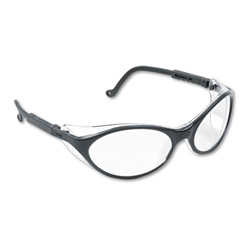 Uvex Safety Bandit Safety Glasses, Clear Lens, Black Frame