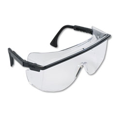 Uvex Safety Safety Glasses, Astro OTG 3001, Clear Lens, Black Frame