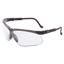 Uvex Safety Genesis Glasses Black Frame Clear Lens w/Anti Fog Coating