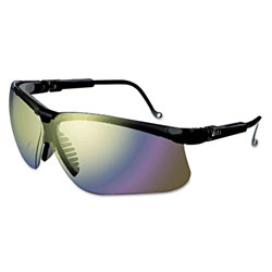 Uvex Safety Genesis Glasses Black Frame Mirrored Lens