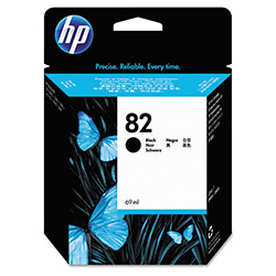 HP 82 Black Ink Cartridge ,Model CH565A ,Page Yield 200 Black/ 165 Color