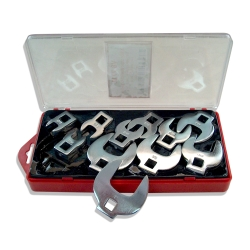 "V-8 Tools 11 Piece 3/8"" Drive SAE Crowsfoot Wrench Set"