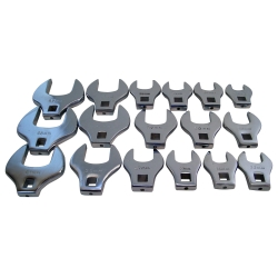 "V-8 Tools 17 Piece 1/2"" Drive Jumbo Crowfoot Wrench Set"