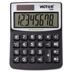 Victor 8 Digit Mini Desktop with Recycled Plastic