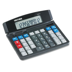 Victor 12 Digit Professional Desktop Tilt Display Calculator