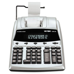Victor 1240-3A Desktop Twelve Digit Two Color Printing Calculator