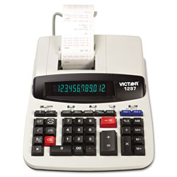 Victor 12 Digit Commercial Printing Calculator with Left Side Total and Equals Plus Logic