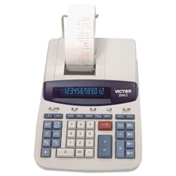Victor 12 Digit Heavy Duty Commercial Calculator with Left Side Total and Equals Plus Logic