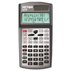 Victor 10 Digit Scientific Calculator with 2Line Display, Solar Power