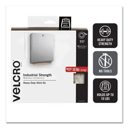 "Velcro Industrial Strength Sticky Back® Hook & Loop Fasteners, White, 2""x15 Foot Roll"