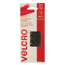 Velcro Oval Hook & Loop Fasteners, 7 1/4 x 3, Black, 40/Pack