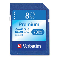 Verbatim SDCH Card, 6 Speed Class, 8GB