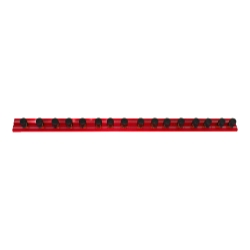 "Vim Products 16"" Red Magrail TL Magnetic Socket and Tool Organizer"