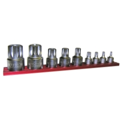 Vim Products 9 Piece Stubby XZN Triple Square Driver Set
