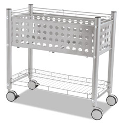 Vertiflex Products File Cart with Open Top, Gray