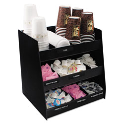 Advantus Vertical Condiment Organizer, 14 1/2w x 11 3/4d x 15h, Black