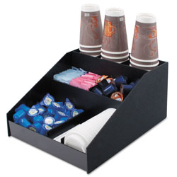 Advantus Horizontal Condiment Organizer, 12w x 16d x 7 1/2h, Black