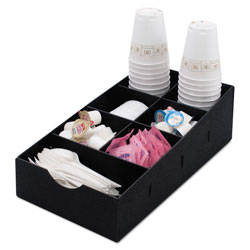 Advantus Condiment Caddy, 8 3/4w x 16d x 5 1/4h, Black