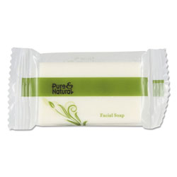 Pure & Natural™ Body & Facial Soap, .75 oz, Fresh Scent, White 1000/Carton