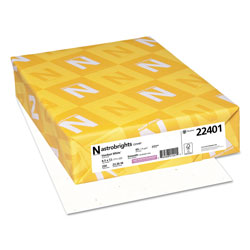 Wausau Papers Colored Card Stock, 8-1/2x11, 65 lb, Stardust White 250/Pack