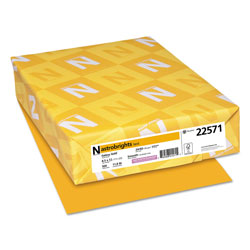 Wausau Papers Color Laser/Inkjet Paper, Gold, 24lb, Letter, 500 Sheets
