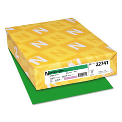 Wausau Papers Colored Card Stock, 8-1/2x11, 65 lb, Gamma Green , 250/Pack