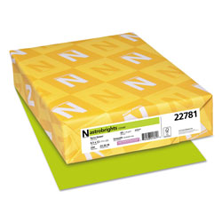 Wausau Papers Colored Card Stock, 8-1/2 x 11, 65 lb, Terra Green, 250/Pack
