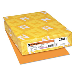 Wausau Papers Colored Card Stock, 8-1/2x11, 65 lb, Cosmic Orange , 250/Pack