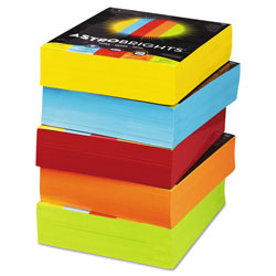 Wausau Papers Eco Brights Bulk C-FoldColored Paper, 24lb, 8-1/2 x 11, Assorted, 2500 Sheets