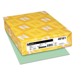 Wausau Papers Index Card Stock, 8 1/2 x 11, 90 lb., Pastel Green, 250 Sheets/Pack