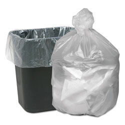 "Webster Webster Good'nTuff Clear Trash Bags, 10 Gallon, 5 Micron, 24"" x 23"", Case of 1000"