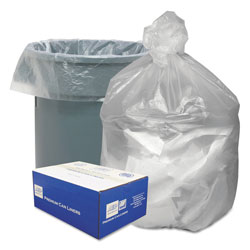 "Webster Webster Good'nTuff Clear Trash Bags, 60 Gallon, 12 Micron, 38"" x 58"", Case of 200"
