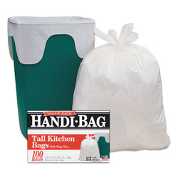 Webster Super Value Pack Trash Bags, 13gal, 0.6mil, 23 3/4 x 28, White, 100/Box, 6 BX/CT