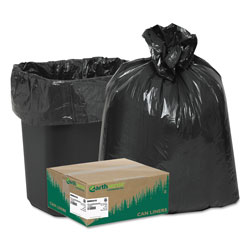 Webster Webster Reclaim Black Trash Bags, 10 Gallon, 0.75 Mil, Case of 500