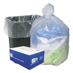 Webster High Density Can Liners, 16gal, .315mil, 24 x 33, Natural, 200/Carton