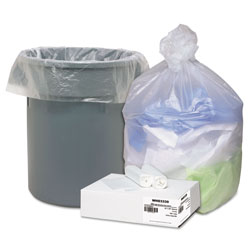 Webster Webster Ultra Plus White Trash Bags, 31 Gallon, Carton of 100 Liners