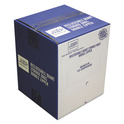 "Webster Resealable Plastic Storage Bags, 7"" x 8"", Case of 500"