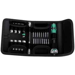 "WERA Tools 28 Piece Zyklop 1/4"" Socket / Bit Set with Pouch"