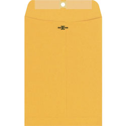 Westvaco Clasp Envelopes, Kraft, 9 x 12, 100/Box