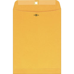 Westvaco Clasp Envelopes, Kraft, 10 x 13, 100/Box
