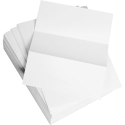 "Weyerhaeuser Company Bulk Custom Cut Sheets, Microperf Every 3-2/3"", 8 1/2"" x 11"", White"
