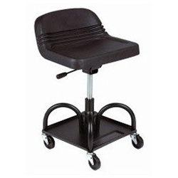 Whiteside Adjustable Height Mechanic's Seat - Black