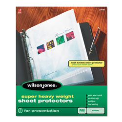 Wilson Jones Super Heavy Weight Sheet Protector, Clear
